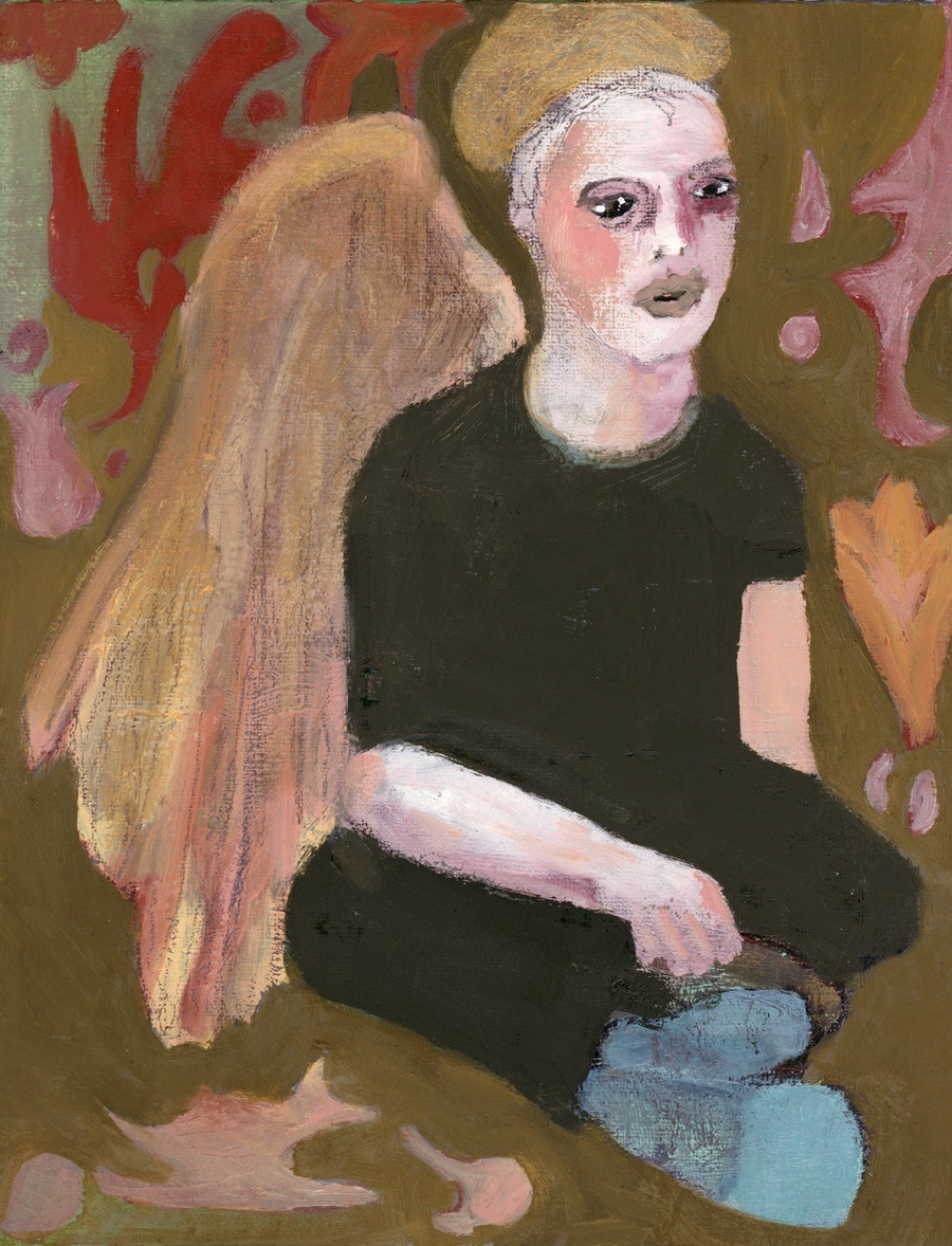 """Painting: Untitled. Oil on Linen, 10"""" x 8"""" by Julianna Paradisi 2012-2013"""
