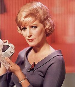 Nurse Christine Chapel, original Star Trek series/via Wikipedia