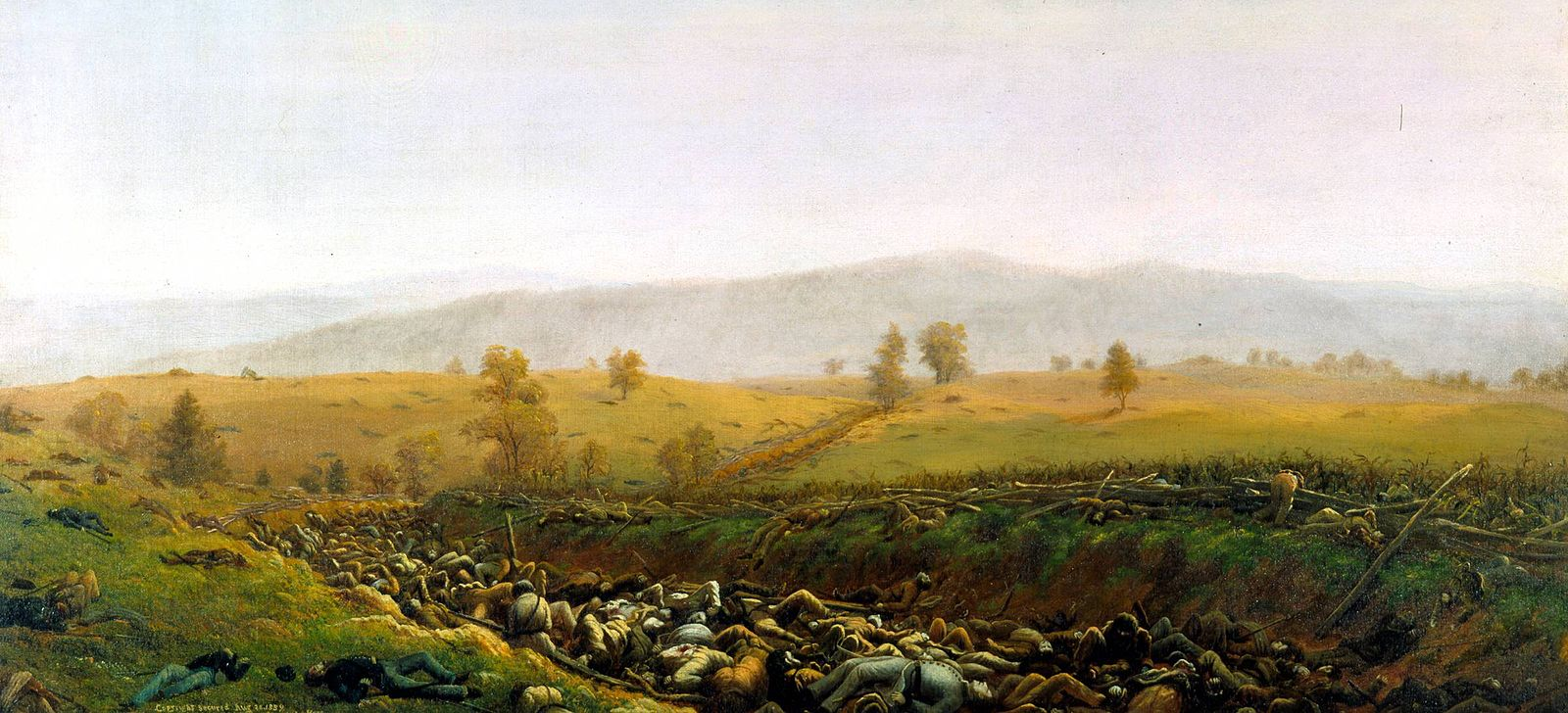 The Aftermath at Bloody Lane, by Capt. James Hope